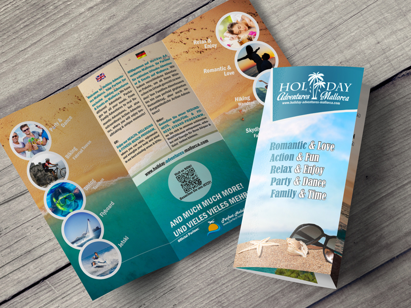 Flyer für Reiseagentur